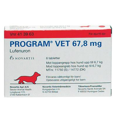 Program Vet Tabletten, Hund <6,7 Kg, 67,8 Mg, 1x6 Stck