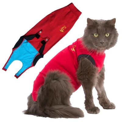 Body-stocking, Medical Pet Shirt® XS rot, Katze, 1 Stück