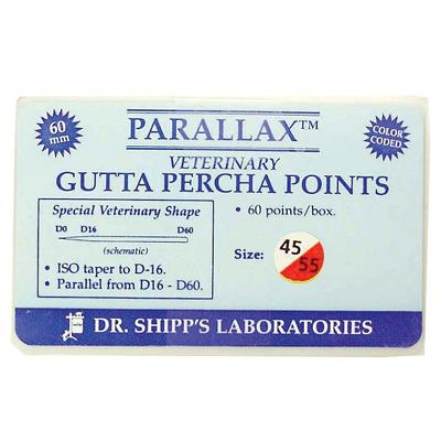 Gutta Percha Point 55 mm, 45-80, 72 Stck